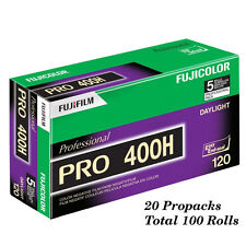 100 Rolls Fuji Color Pro 400H ISO 400 120 Color Negative Film, EXP 8-2018