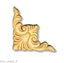 """Birch Applique ~ Plume Corner ~ REAL WOOD { 3-3/4"""" x 3-3/4"""" } ~ by  PLD"""
