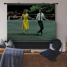 """Duronic BPS80/43 80"""" Wall Mountable HD Projection Screen for Home Cinema"""