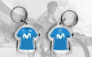 TEAM Movistar t-shirt / jersey keyring cycling, Tour de France UCI