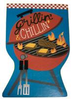 Grillin /& Chillin BBQ Grill Summer Garden Flag 2 Sided Applique New 12.5 x 18