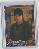 Captain America Civil War Blue Insert Card Sebastian Stan /  Winter Soldier #48