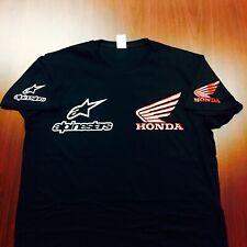 Custom Alpinestars Honda Motorcycle T-shirt  Shirt S-3X NEW