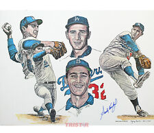 Sandy Koufax Los Angeles Dodgers Signed 20x24 Lithograph PSA
