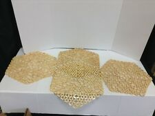 4 Frontgate Kim Seybert BambooHexagon Kitchen Dining Table Placemats Natural
