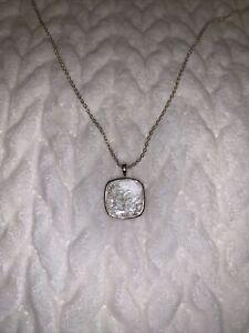 "Deb Guyot Herkimer ""Diamond"" Quartz Floating Pendant 30"" Necklace HSN $150.00"