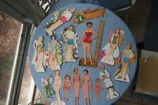 Lot of Vintage Paper Dolls: Bridal Party, plus extras with cut clothes