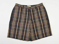 J Crew Mens Shorts Plaid Flat Front Cotton 34