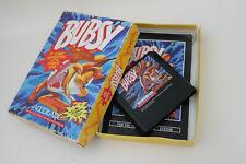 Bubsy Sega Genesis Authentic Complete in Cardboard Box Game CIB