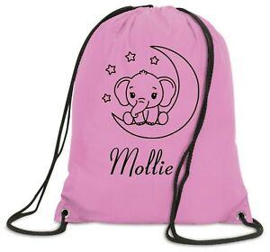 Personalised Nusery Bag Drawstring PE Dance Girls Kids Swim Gym School