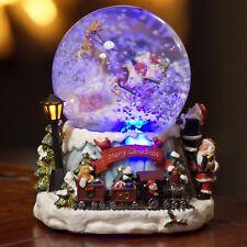 LED Schneekugel Weihnachten elektr. Schneewirbel, viele Melodien und Farbwechsel