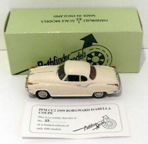 Pathfinder Models 1/43 Scale PFMCC2 - 1959 Borgward Isabella 1 Of 600 Cream