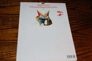 Rien Poortvliet David the Gnome Art Kabouter Birthday Calendar Dutch Months New