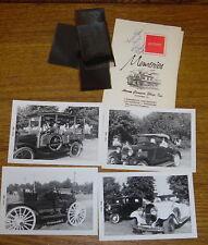 Four 1962 Original Photographs Of Antique Cars At The Kimberton PA Car Show