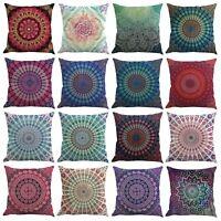 Square Cotton Linen Flower Floral Throw Pillow Case Cushion Cover Home Decor