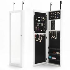 La Bella WALLIS Mirror Jewellery Wall Cabinet - White