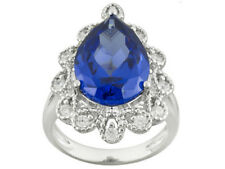 Size 8-9.64ct Bella Luce Tanzanite and White Diamond Simulant Sterling Ring
