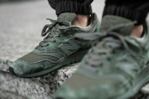 NEW BALANCE M997 NAL MADE IN US OLIVE GREEN MEN'S SUPER FABRIC SIZE 9.5 M997NAL
