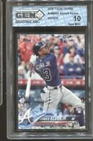 2018 Ronald Acuna Jr. Topps Holiday #HMW50Gem Mint 10 RC Rookie Braves