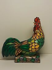 The Bradford Exchange Rise And Shine Tiffany Style Rooster Table Lamp