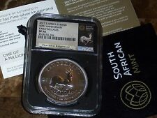 2017 SILVER KRUGERRAND NGC SP70  S Africa 1 Oz Silver -EARLY RELEASES