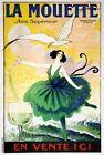 "Vintage Illustrated Travel Poster CANVAS PRINT La Mouette 8""X 10"""