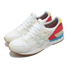 Asics Gel-Lyte V Blanco Amarillo Azul Goma De Mascar Hombres Informal Zapatos Correr 1191A202-100