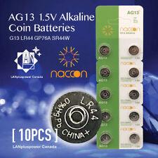 Naccon 10x AG13 1.5V Alkaline Button Battery AG13 LR44 G13 LR44 A76 GP76A 357