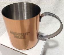 New listing Absolut Vodka Moscow Mule Stainless Steel Cup Mug Copper Plated 13 Ounce New