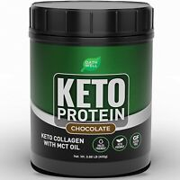 Keto Collagen Protein Powder with MCT Oil - Chocolate Flavor Low Carb Keto