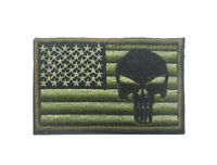 PUNISHER SKULL TACTICAL USA FLAG  MILITARY 3.0 INCH   PATCH 1PCS  AA 1078