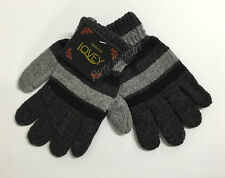 Brand New Kids Boys/Girls Winter Warm Thick Knitted Striped Glove Grey Black-AU