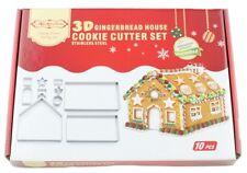 3D Gingerbread House Cookie Cutter Set