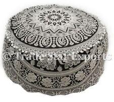 GRANDE POUF Ottomano Copertura Mandala POGGIAPIEDI SEDILE decorativi Hippie COVER