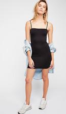 NEW Free People Seamless Skinny Strap Slip Dress in Black Size XS/S-M/L $39.73