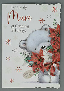 Mum Christmas Card, For A Lovely Mum With Love Xmas Card Merry Christmas