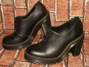 Dr. Martens AirWair SALOME II aunt sally leather heels shoes uk 4 eu 37 Doc#406