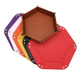 Hexagon Dice Tray Dice Folding Box Games Dices Watches Jewelry Storage Box SG