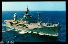 USS Blue Ridge  LCC-19 postcard US Navy Flagship of Commander, 7th Fleet (cd2)