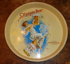 old tin litho beer tray advertising Olympia beer