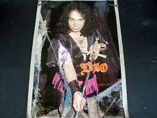 RARE DIO 1984 VINTAGE ORIGINAL MUSIC POSTER