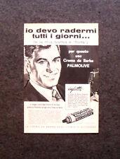 M483- Advertising Pubblicità -1960-  CREMA DA BARBA PALMOLIVE