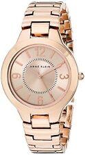 Anne Klein Womens Rose Gold Tone Bracelet Watch