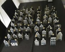 EMPTY KLM DELFT BLUE HOUSES 4 For £40