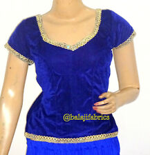 Designer Saree Blouse,Readymade Sari Blouse,Velvet Short Top in 10 colors