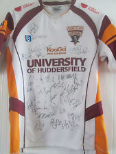 Huddersfield Giants Signed 2009 Rugby Super League Alternative Shirt COA /40648