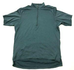 VINTAGE Pearl Izumi Cycling Jersey Size Large L Shirt 1/4 Zip Tee Gray USA MADE