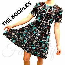 The Kooples Silk Botanic Print Floral Dress S 8 10 12