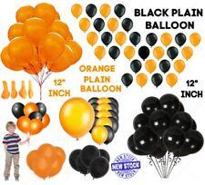 30.5cm 10-20PCS Naranja y Negro Halloween Liso Látex Globos Fiesta Decoración GB