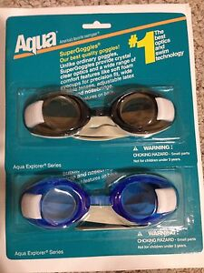 2 pairs Aqua SuperGoggles with Clear Lens
